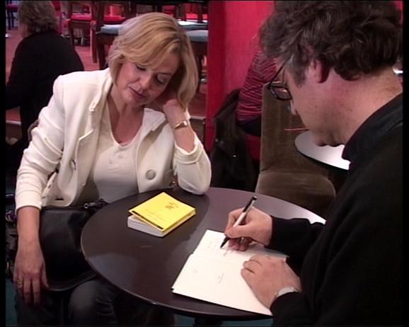 Neda Valčić Lazović i Mišel Onfre prilikom svojevremenog susreta u Parizu