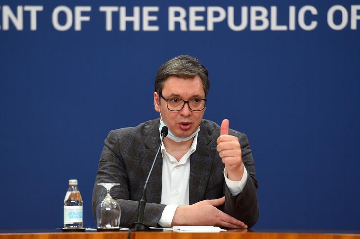 Vučić, obraćanje naciji, korona11