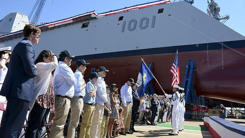 """USS Miachael Monsoor - drugi z największych """"niewidzialnych"""" niszczycieli wypłynął na morze"""