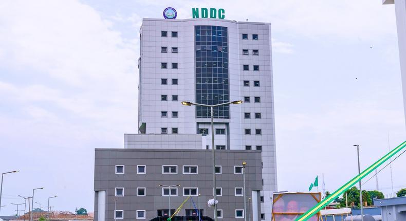 President Muhammadu Buhari inaugurates NDDC Building 25 years after groundbreaking ceremony. [Presidency]