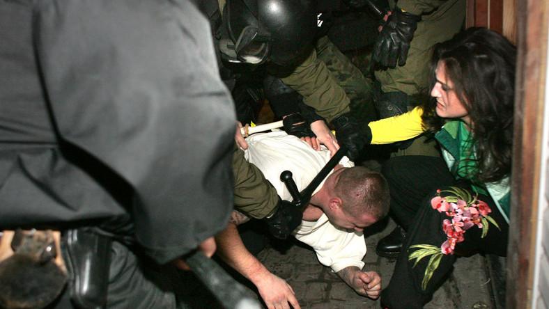 """""""Mrówki"""" znowu biją się z policją w Medyce"""