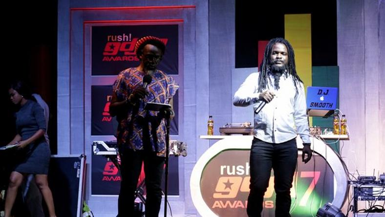Ras Kuuku and Daddy Bosco at the 2017 Ghana DJ Awards nominee announcement