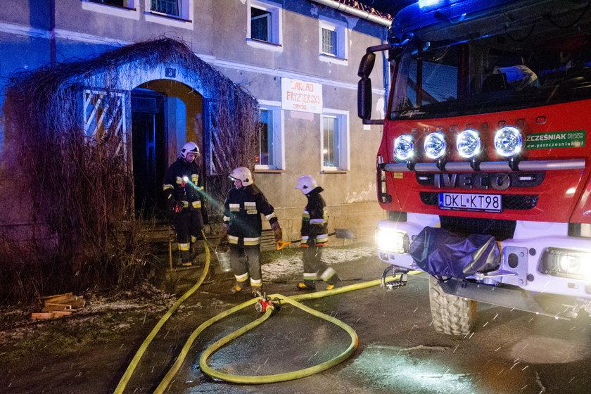 Pożar w powiecie kłodzkim