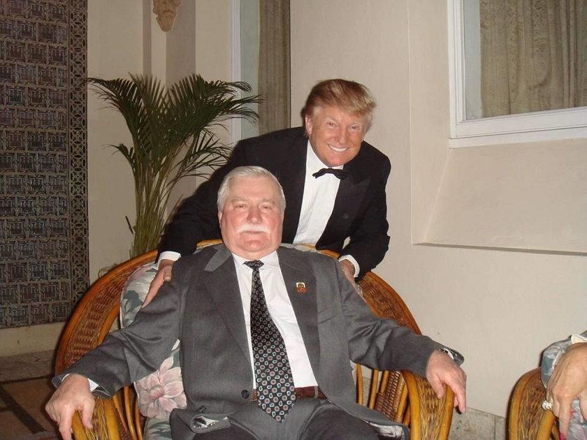 Lech Wałęsa i Donald Trump