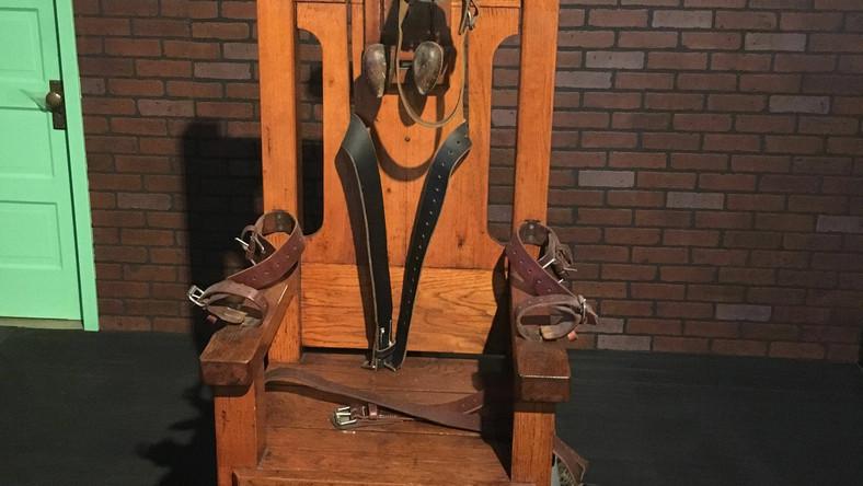 Krzesło elektryczne w Muzeum Więzięnnictwa w Teksasie