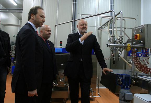 Fabriku otvorio ministar trgovine Slobodan Milosavljević