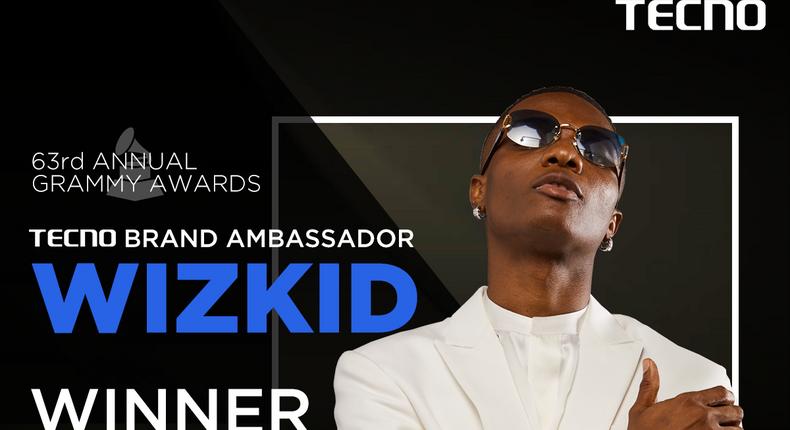 A winning alliance: TECNO celebrates ambassador Wizkid on Grammy Award win