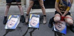 Szok! Femenki załatwiły się na portret Janukowycza?