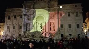 Włoskie zabytki w kolorach belgijskiej flagi
