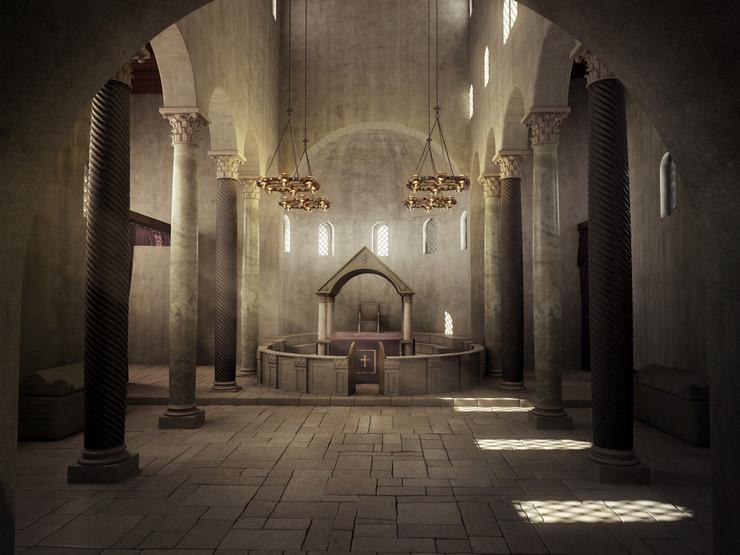 Bazilika svetog Dimitrija – unutrašnji izgled - rekontrukcija