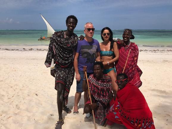 Saša Matić u Zanzibaru sa suprugom