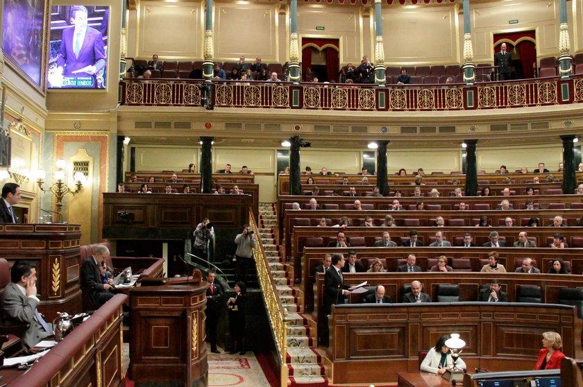 Sala obrad hiszpańskiego Kongresu Deputowanych