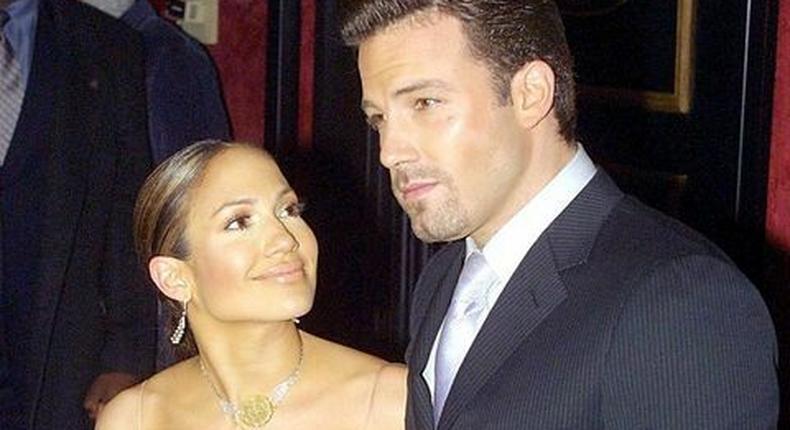 Jennifer Lopez and Ben Affleck [Elle]