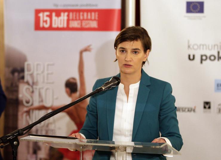 Ana Brnabić Beogradski festival igre TANJUG - SAVA RADOVANOVIC