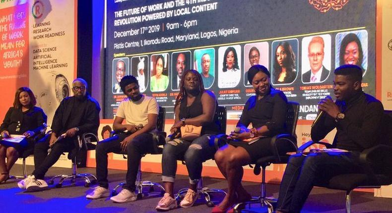 The first panel discussion on Nigeria's Entertainment and Creative Industry at The Workplan (Twitter./WebTVng)