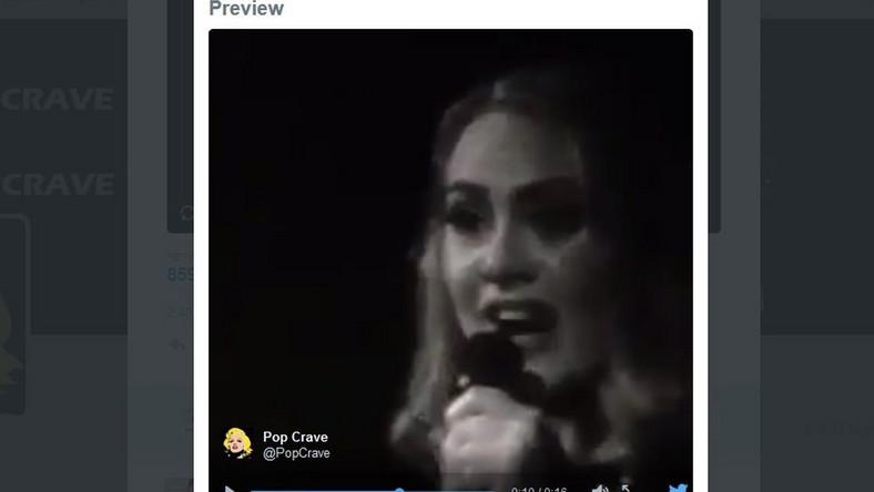 Adele w czasie koncertu w Lizbonie