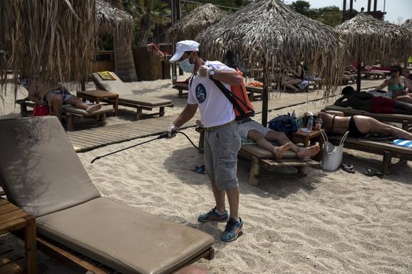 Posebne mere na grčkim plažama