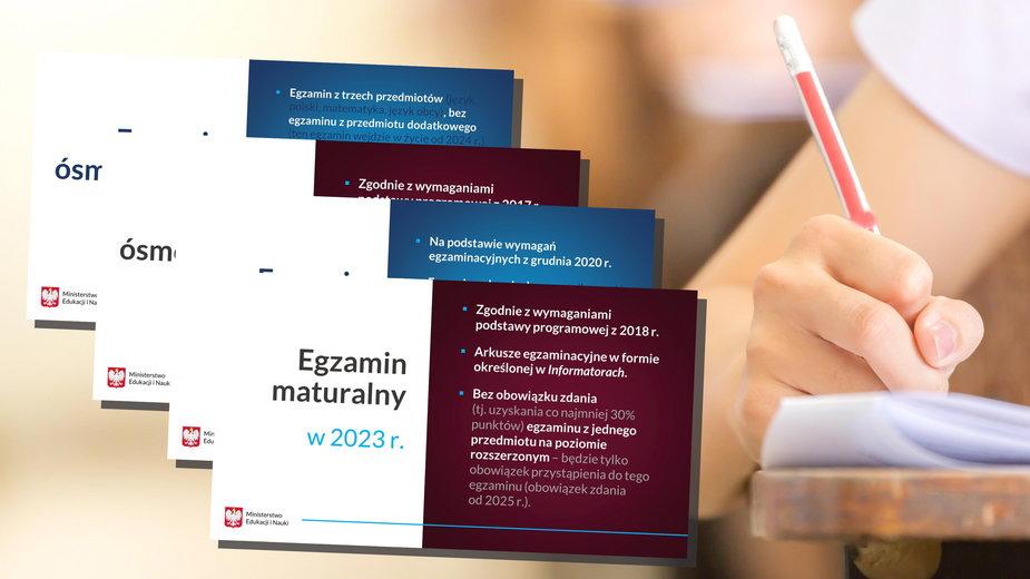 Koronawirus. Matura 2022 i 2023 - Zmiany. Jest decyzja MEN ws. egzaminów