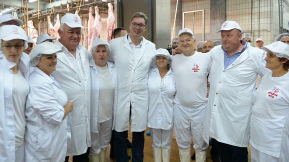 Vučić danas u Šidu, sa radnicima Fabrie za preradu mesa