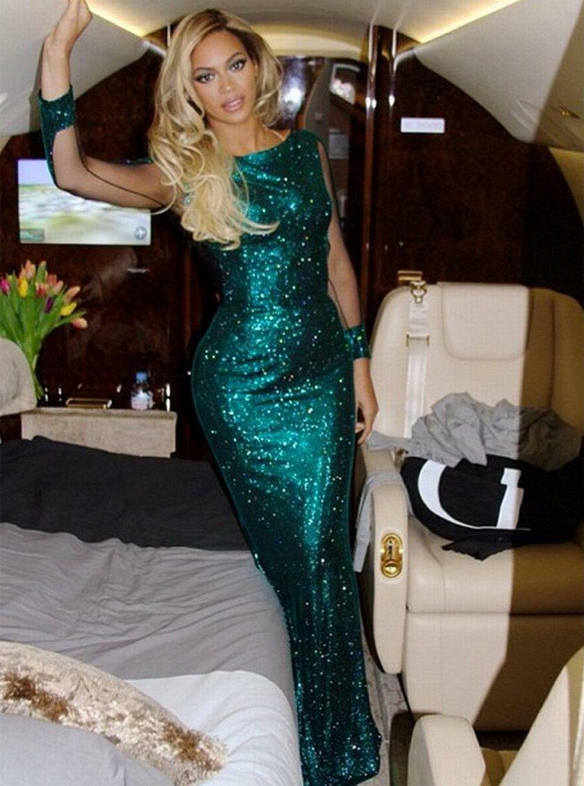 Beyonce w samolocie