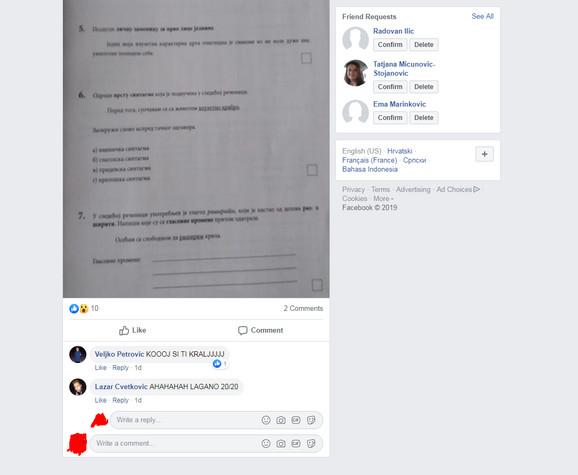 Lažni su i profili sa kojih je komentarisana objava