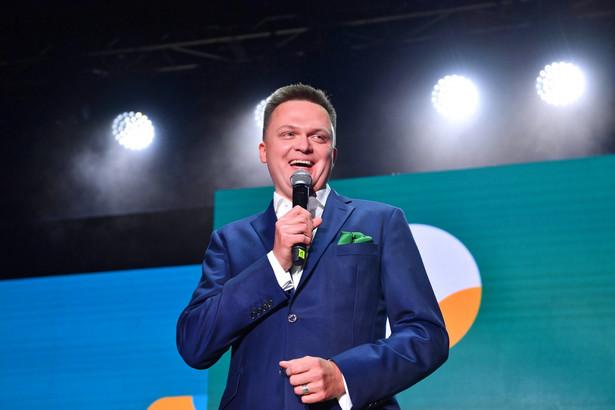 Szymon Hołownia podczas pierwszego kongresu Polski 2050