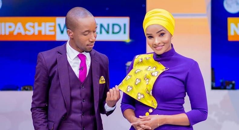 Rashid Abdalla with Lulu Hassan. 8 Media personalities who married their colleagues (Instagram)