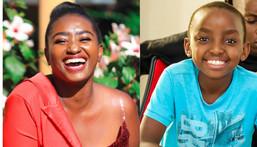 Actress Njambi and Son Darren aka Pipi