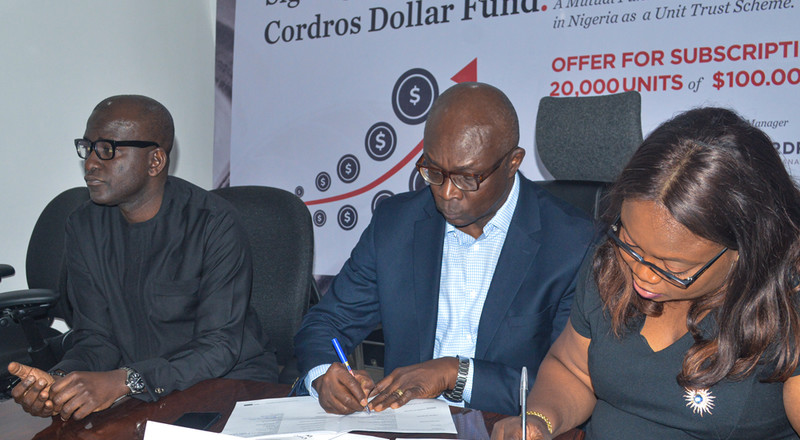 Cordros Asset Management is  launching a Dollar Mutual Fund to help investors diversify their portfolios and hedge against currency risk