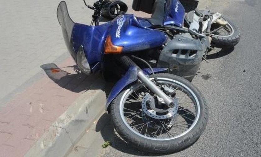 Dzieci wbiegły wprost pod rozpędzony motocykl