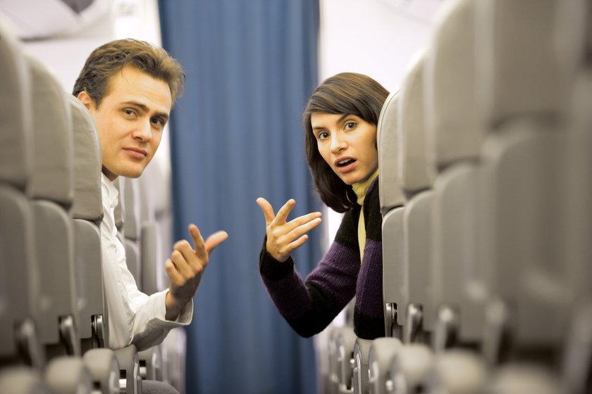 Tłok w samolocie