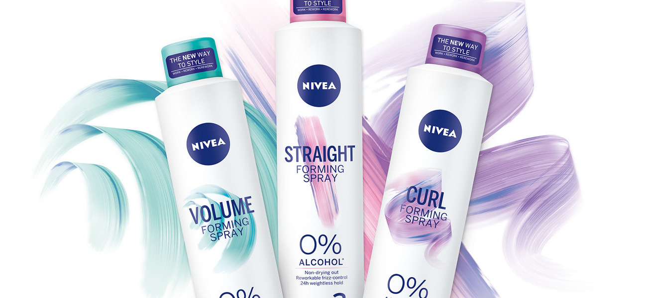 NIVEA Forming Spray - linia