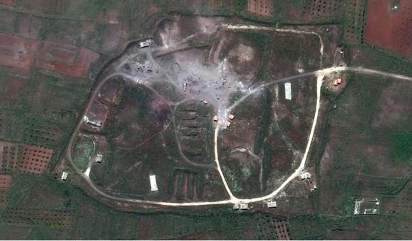 Satelitski snimak pogođenih meta