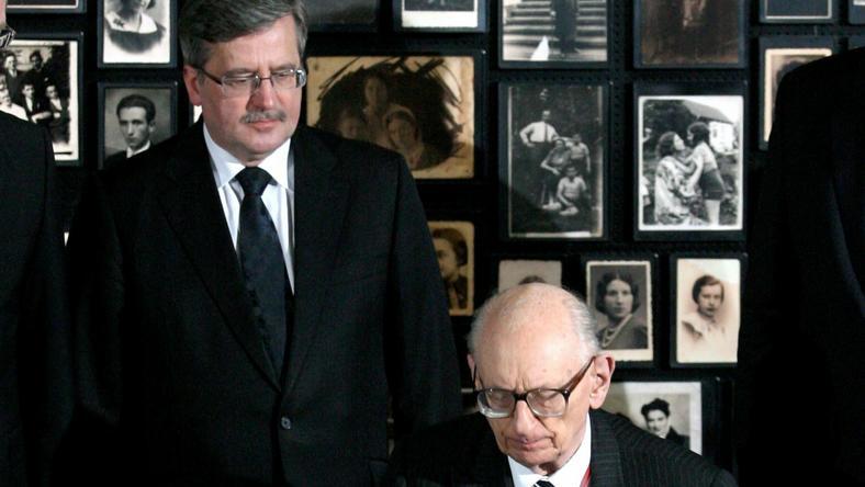 Bronisław Komorowski i Władysław Bartoszewski