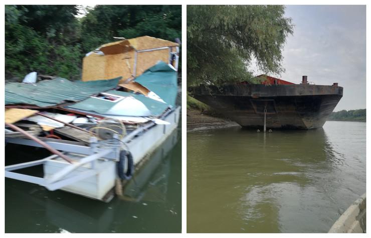 Brod udario u splav i sravnio ga sa zemljom