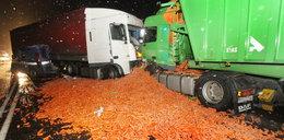 Wypadki ciężarówek pełnych towaru!