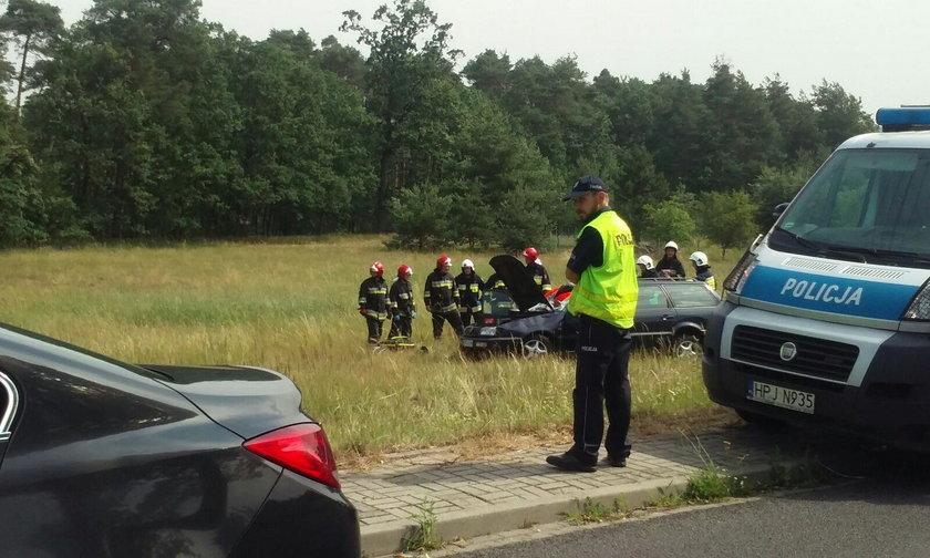 Strażacy musieli zneutralizować wyciekające z auta płyny
