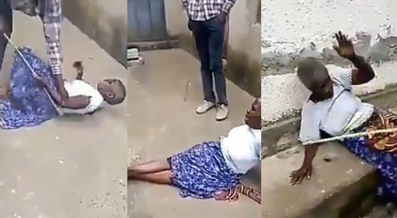 Man flogs his grandmother mercilessly as pastor says she's a witch [Video]