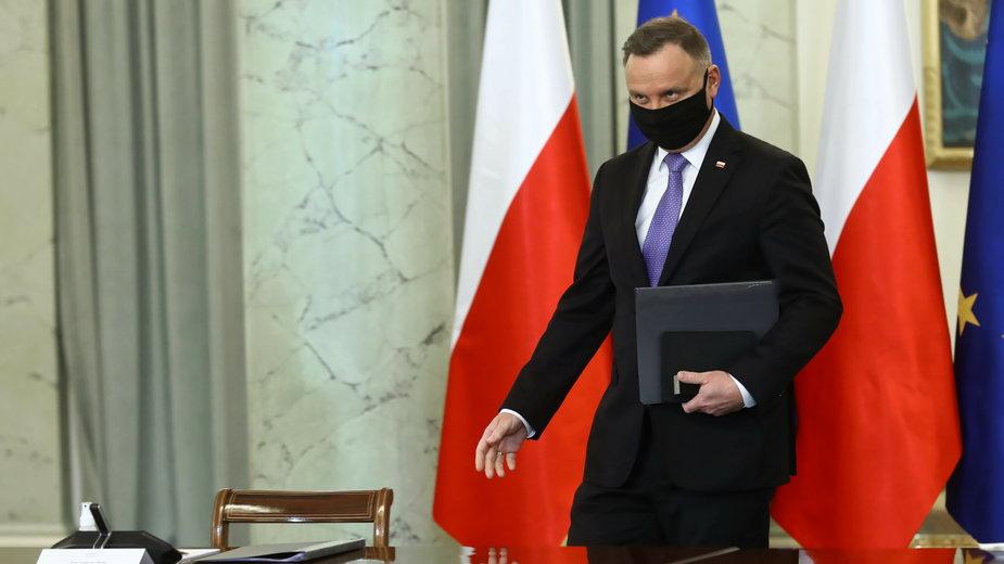 Andrzej Duda na posiedzeniu zespołu do spraw sędziów pokoju