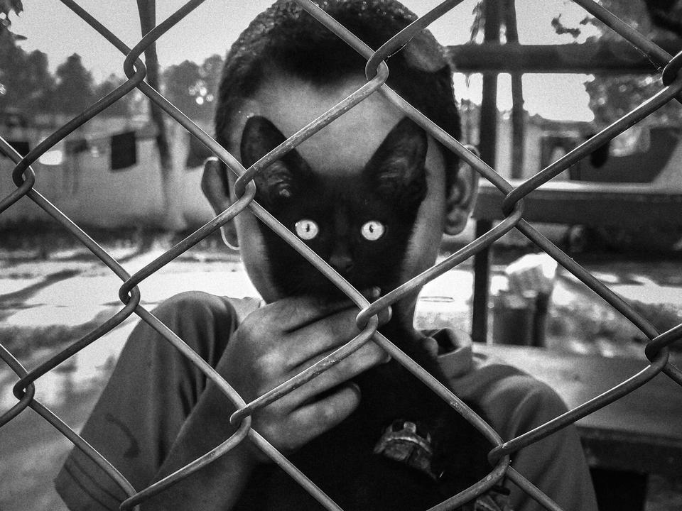 Kategoria: ludzie. Wyróżniona praca: 'Cat's Eyes', Arek Rataj, Polska