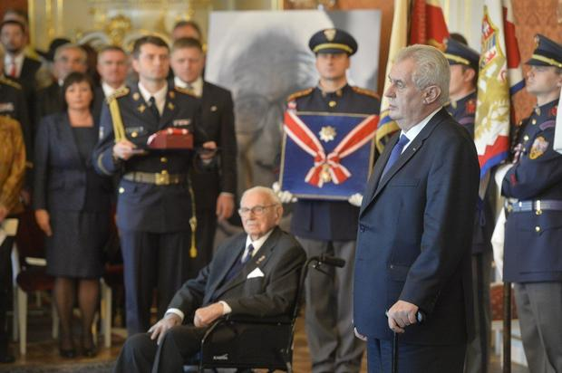 Nikolas Vinton i Miloš Zeman