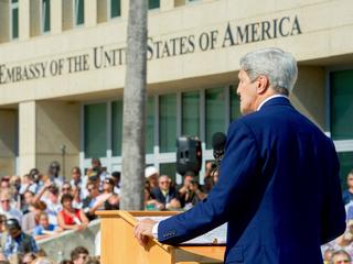 Secretary Kerry Opens the U.S. Embasy in Cuba