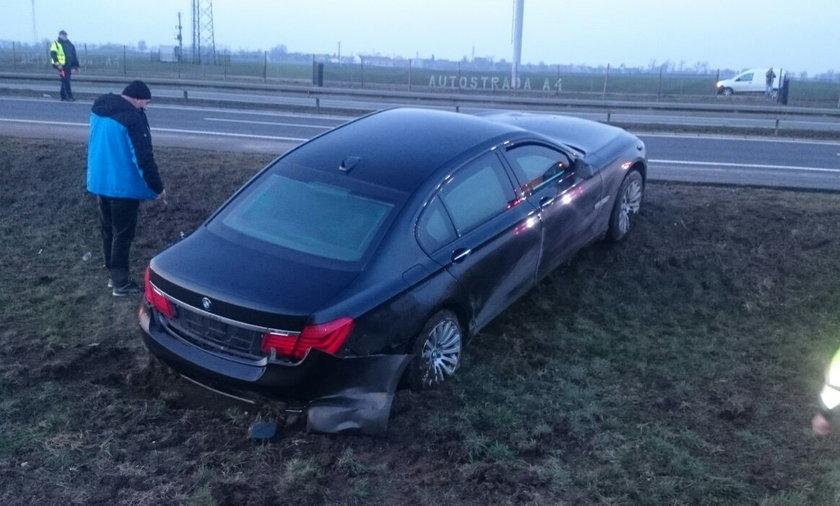 Wypadek prezydenckiej limuzyny na autostradzie A4