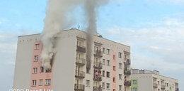 Tragedia w Mysłowicach. Z okien wieżowca buchały płomienie