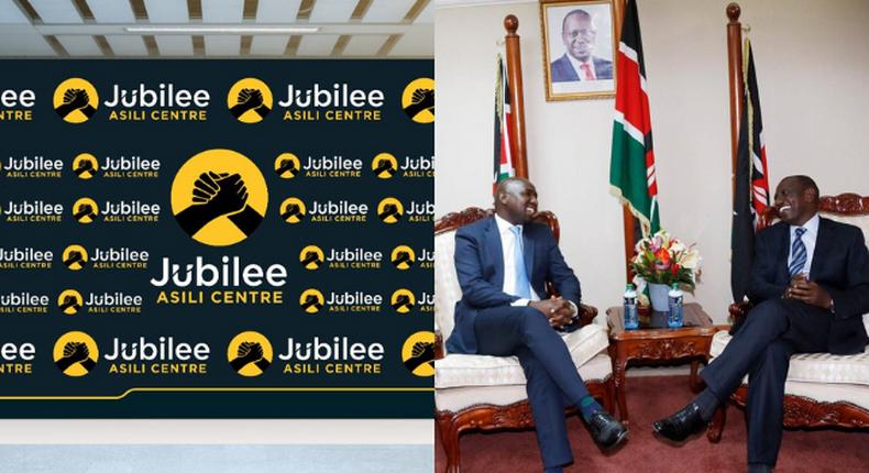 Kipchumba Murkomen  with Deputy William Ruto