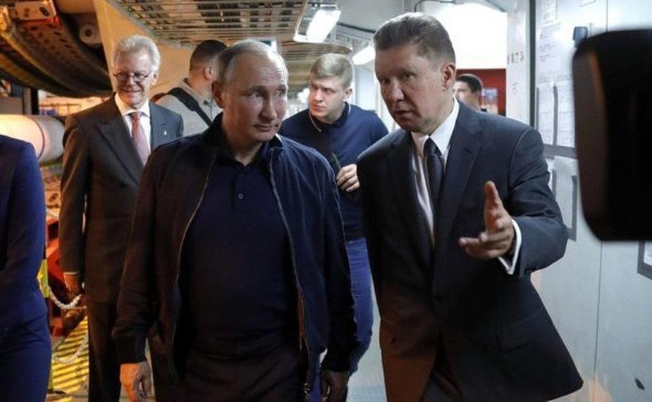 Prezydent Rosji z prezesem Gazpromu. fot. Kancelaria Prezydenta Rosji