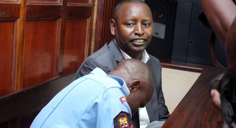 Samburu Governor Moses Kasaine Lenolkulal during his court appearance on Wednesday, his bail was reduced from Sh100 million to Sh10 million