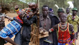In this tribe, a man must kidnap any pretty lady he likes and inform her father later