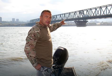 Renato Grbić kod Pančevačkog mosta