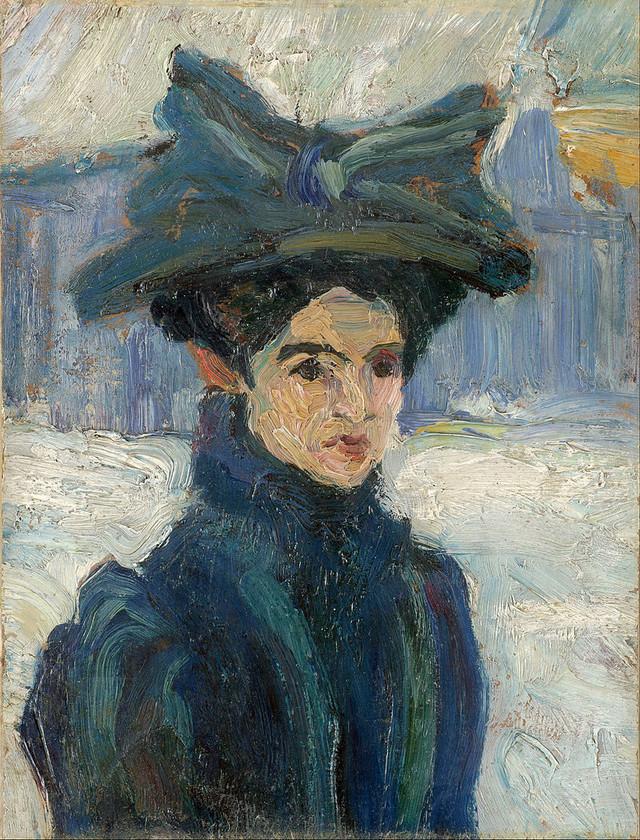 Portret Ksenije Atanasijević naslikala Nadežda Petrović 1912. (Spomen zbirka Pavla Beljanskog)